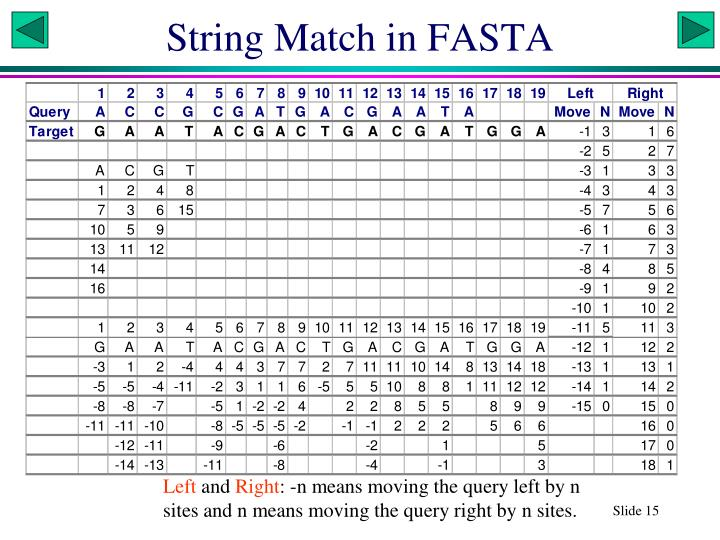 String Match in FASTA