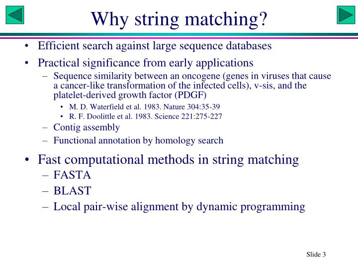 Why string matching