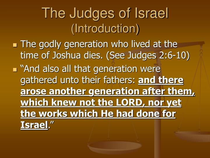 the judges of israel introduction n.