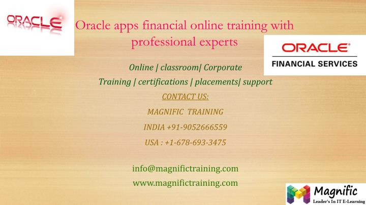 oracle apps financial online training with professional experts n.