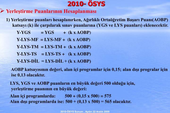2010- ÖSYS