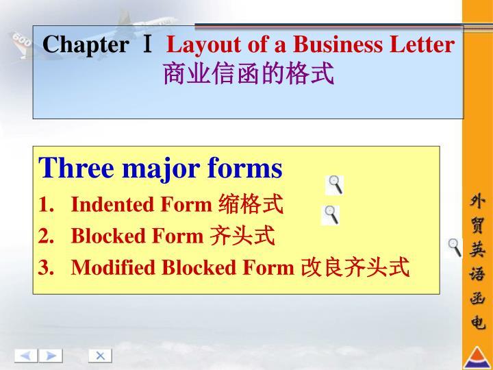 Three major forms
