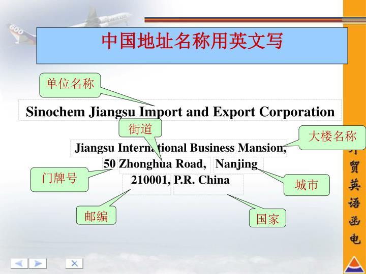 Sinochem Jiangsu Import and Export Corporation