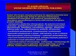 23 projekt sektorowy system informacyjny statystyki publicznej