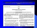 ustalenie zasad wymiany informacji drog elektroniczn podstawa prawna