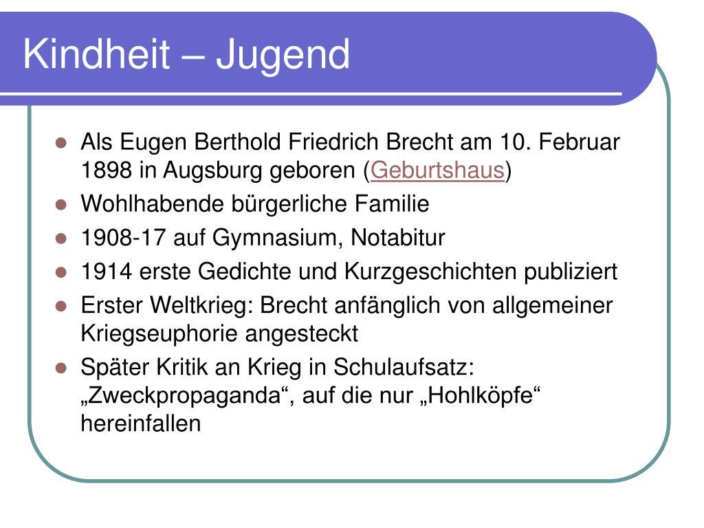 Bertolt Brecht Biografia Massnahmen Gegen
