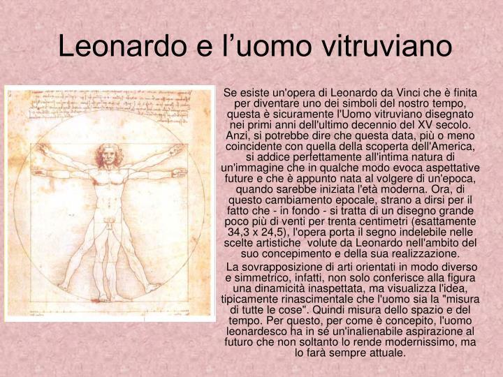 Leonardo e l'uomo vitruviano