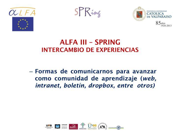 ALFA III – SPRING