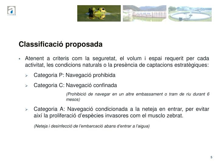 Classificació proposada