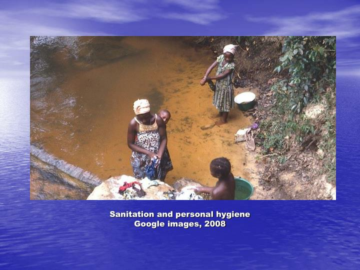 Sanitation and personal hygiene