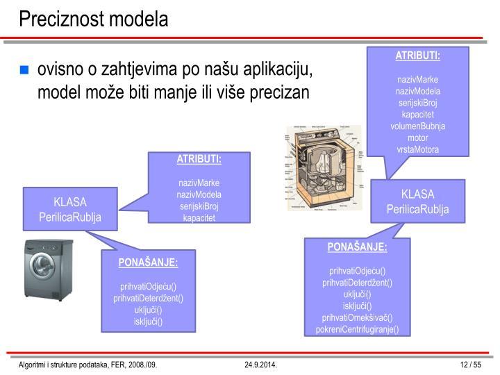 Preciznost modela
