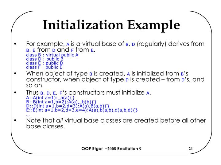 Initialization Example