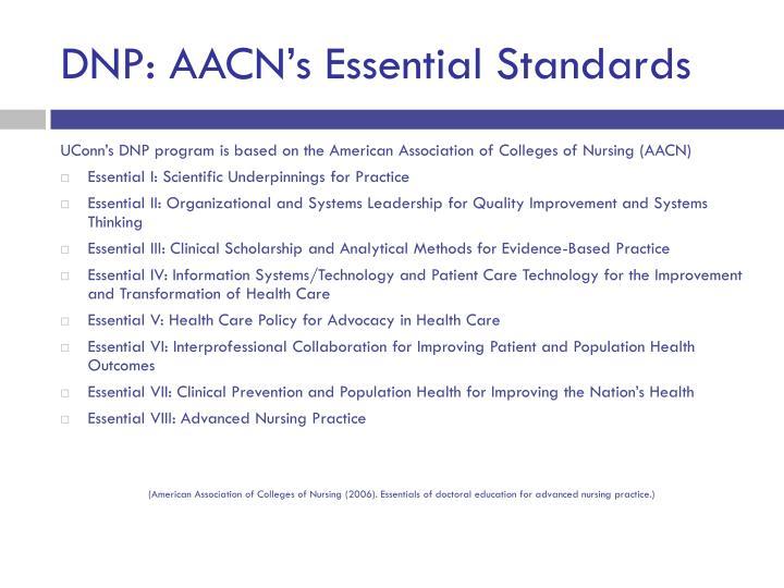 DNP: AACN's Essential Standards