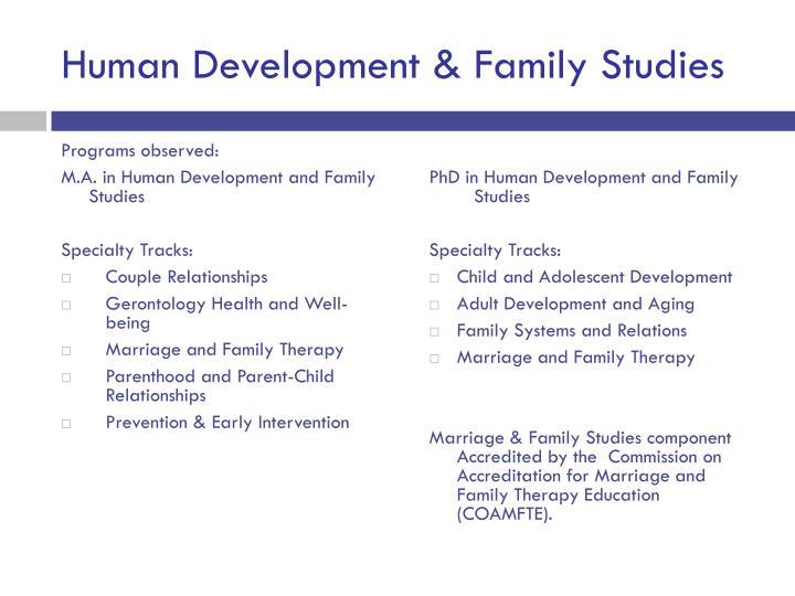 Human Development & Family Studies