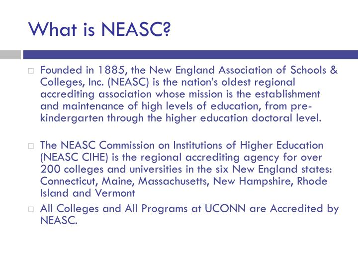 What is NEASC?