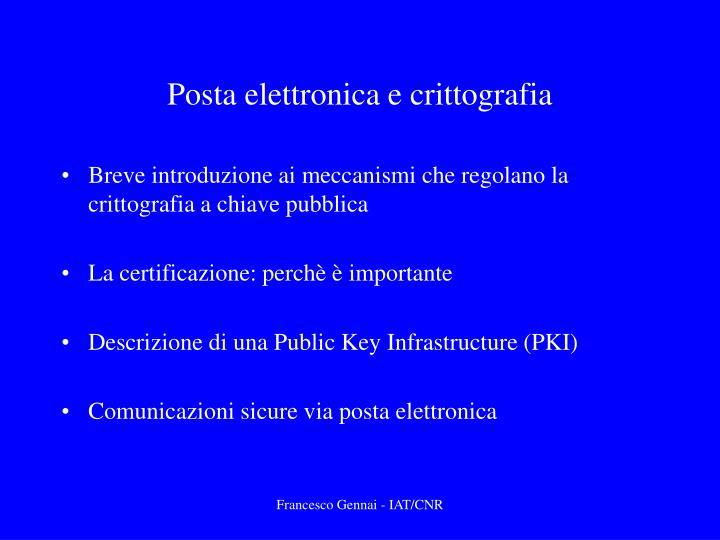 Posta elettronica e crittografia1