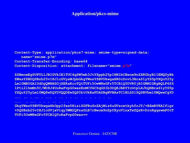 Application/pkcs-mime