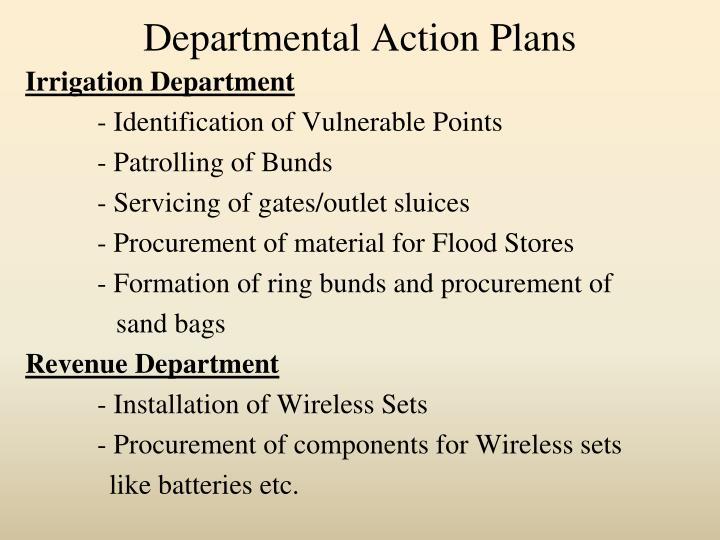 Departmental Action Plans
