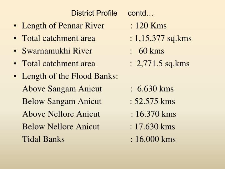 District Profile     contd…