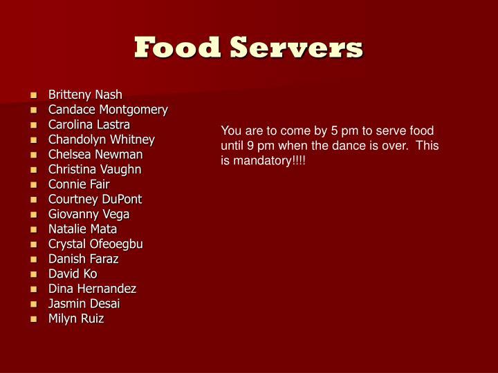Food Servers
