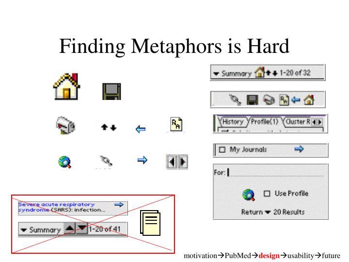 Finding Metaphors is Hard