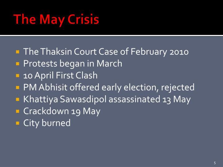 The May Crisis