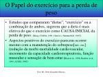 o papel do exerc cio para a perda de peso1