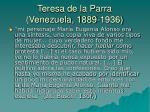 teresa de la parra venezuela 1889 193617