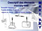 descriptif des lements maxisky 600