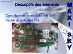 descriptifs des lements