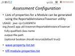 assessment configuration