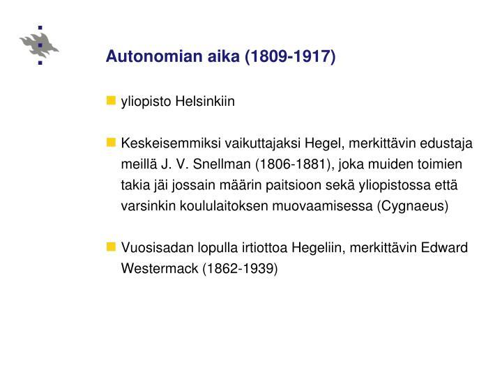 Autonomian aika (1809‑1917)