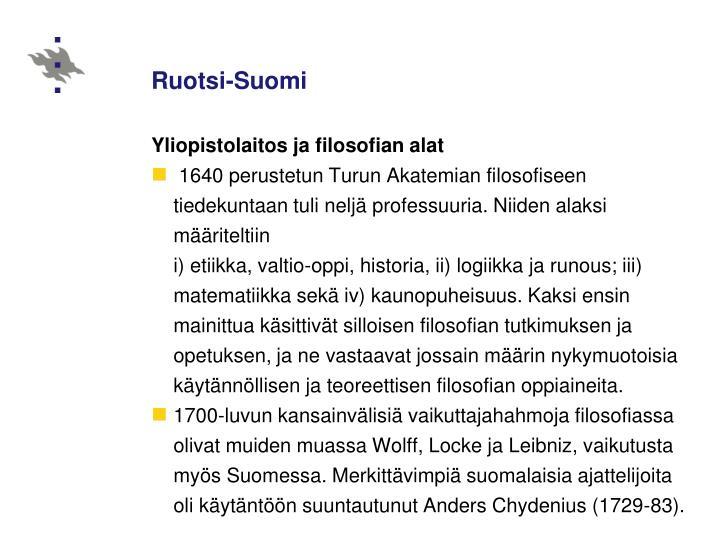 Ruotsi‑Suomi