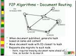 p2p algorithms document routing