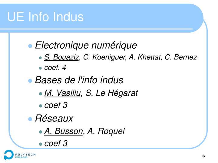 UE Info Indus