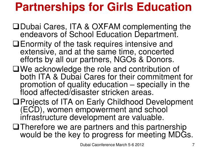 Partnerships for Girls Education
