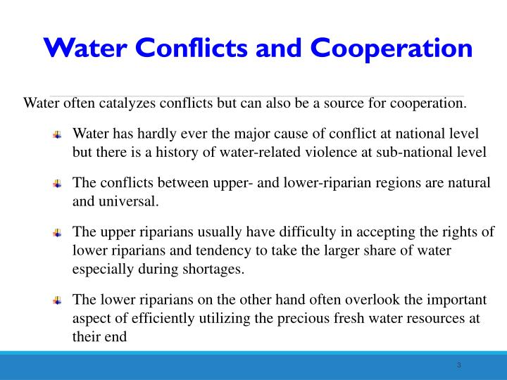 Water Conflicts and Cooperation
