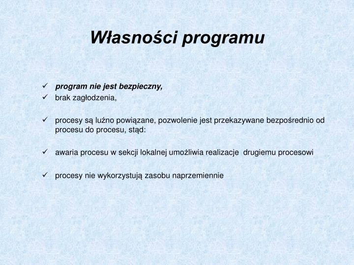 Własności programu
