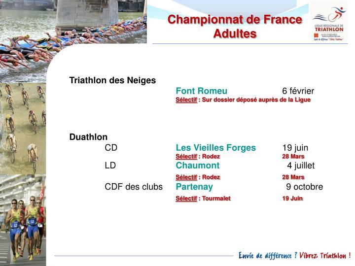 Championnat de France Adultes
