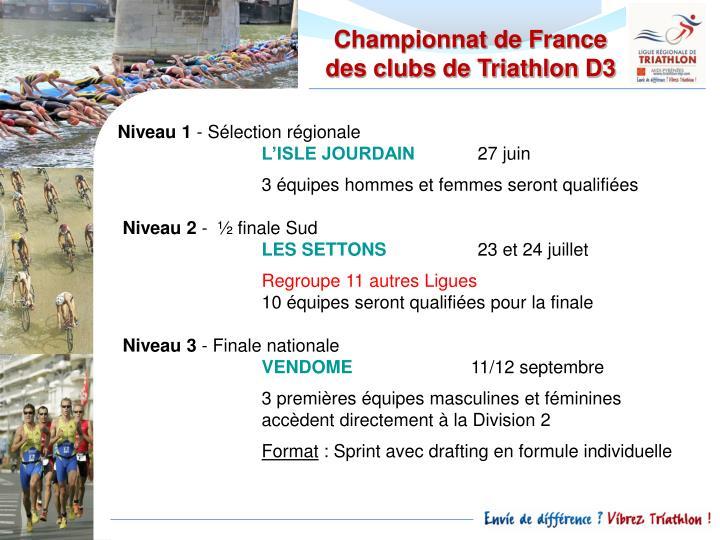 Championnat de France des clubs de Triathlon D3