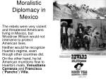 moralistic diplomacy in mexico1