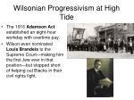 wilsonian progressivism at high tide