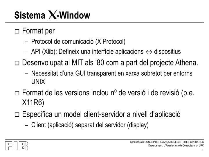 Sistema window