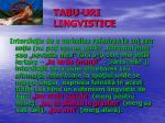 tabu uri lingvistice