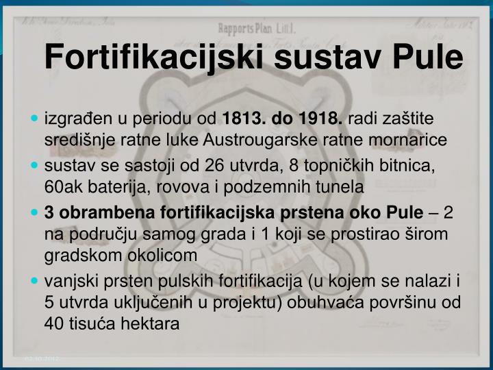 Fortifikacijski sustav Pule