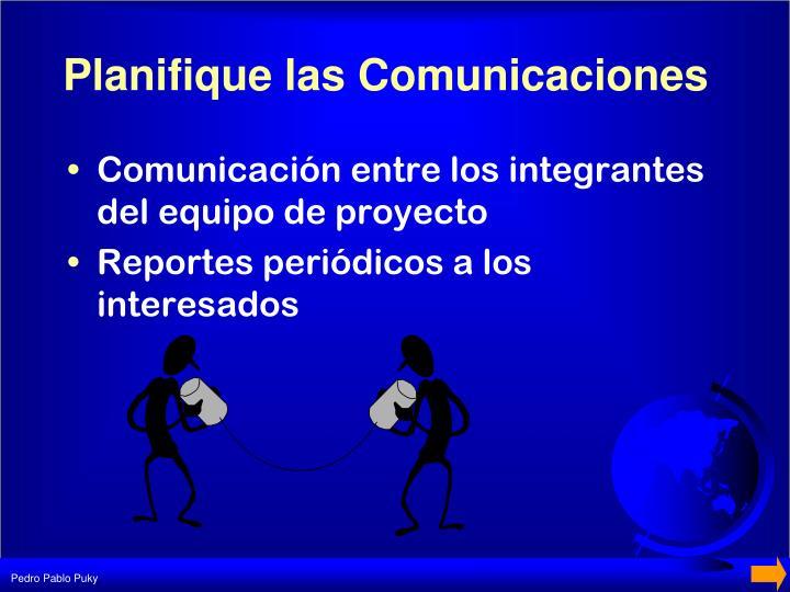 Planifique las Comunicaciones