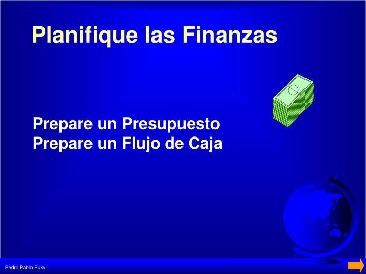 Planifique las Finanzas