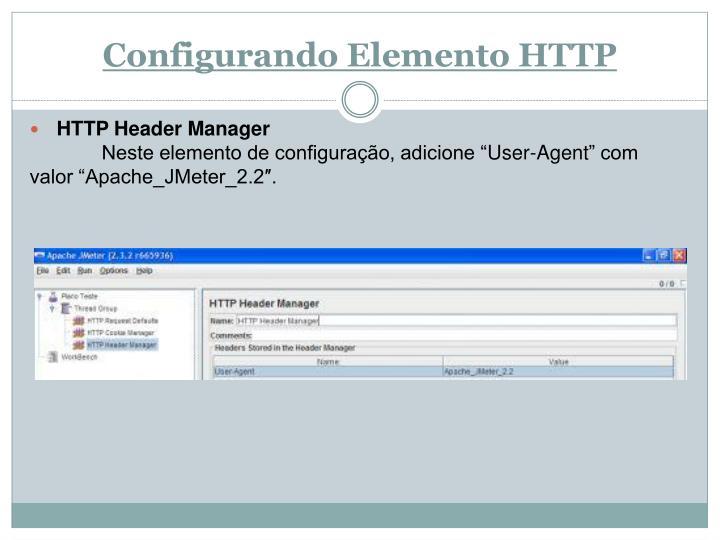 Configurando Elemento HTTP