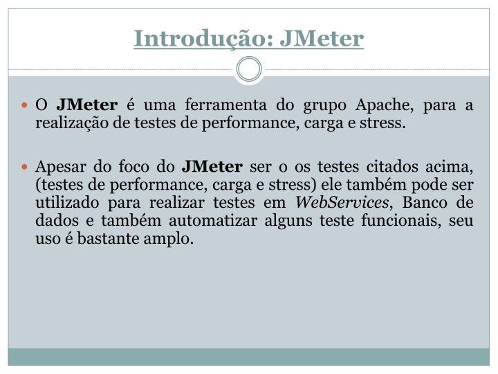 Introdu o jmeter