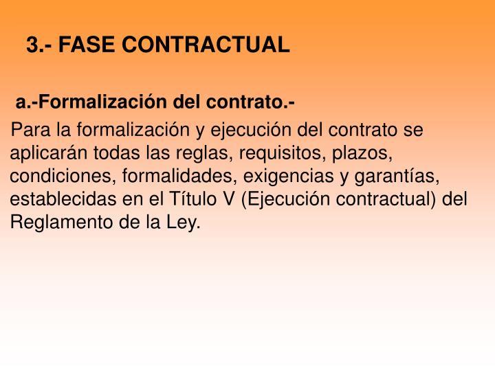 3.- FASE CONTRACTUAL